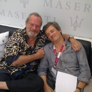 Francesco Alò in compagnia di Terry Gilliam